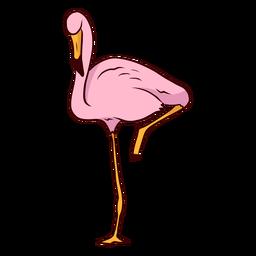 Ilustración de pico de flamenco