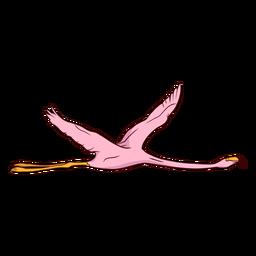 Ilustración de ala de flamenco