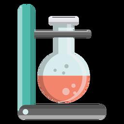 Frasco perla burbuja líquido líquido soporte soporte ilustración