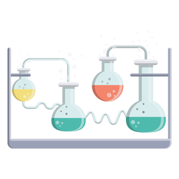 Flask liquid fluid bead bubble illustration