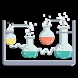 Ilustração de bolha flask fluido líquido grânulo