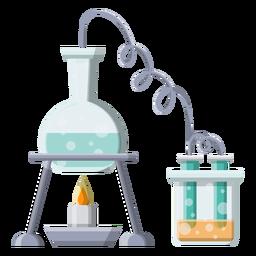 Brenner-Feuerrohrperlenblasenillustration der Flasche flüssige flüssige