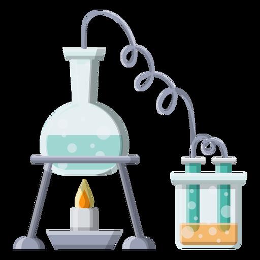 Flask liquid liquid burner fire tube ilustração de bolha do grânulo Transparent PNG
