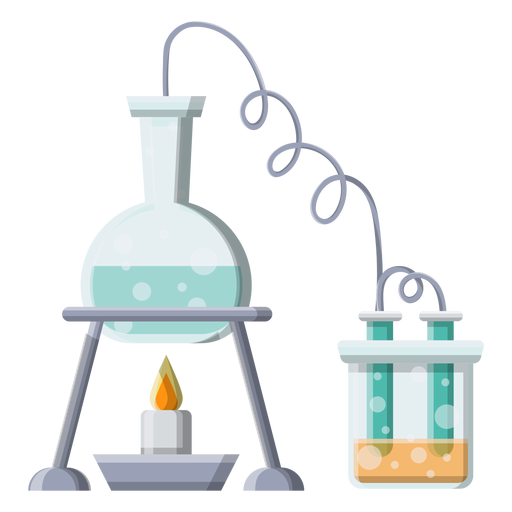 Frasco líquido líquido quemador fuego tubo bolas burbuja ilustración Transparent PNG