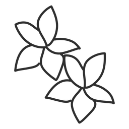 Pétalo de la flor, hoja, trazo