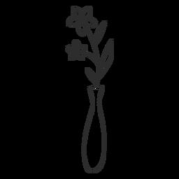 Esboço de doodle de vaso de flor