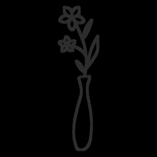Florero garabato boceto Transparent PNG