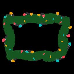 Ilustración de Navidad de Navidad bombilla guirnalda