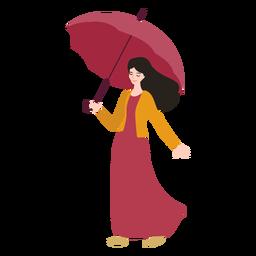 Menina guarda-chuva