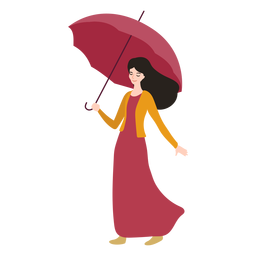 Niña paraguas ilustración