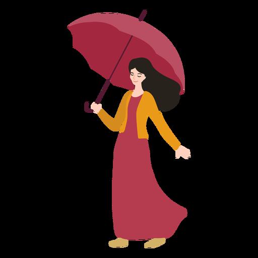 Girl umbrella illustration Transparent PNG