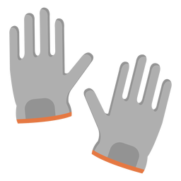 Glove pair illustration