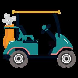 Ilustração de golfe de clube de carrinho de golfe