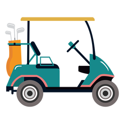 Ilustração de golfe do carrinho de golfe