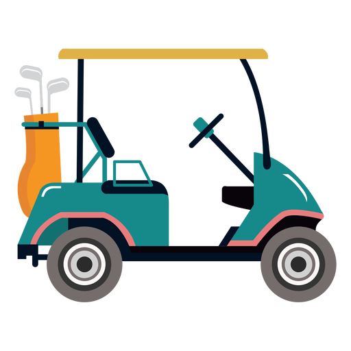 Golf cart club golf illustration