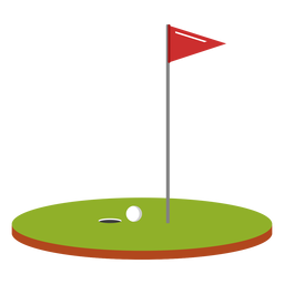Golf ball flag course illustration