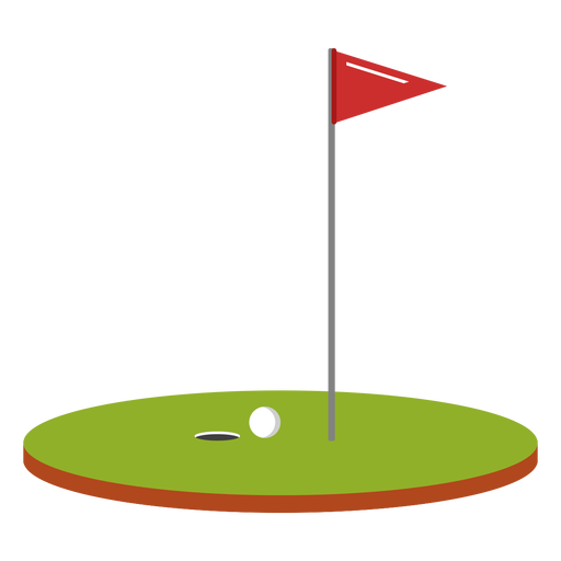 Golf ball flag course illustration