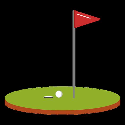 Ilustración de curso de bandera de pelota de golf Transparent PNG