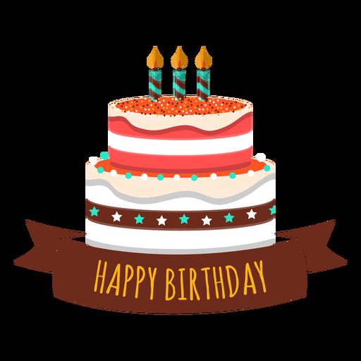 Adesivo de coração feliz aniversário bolo vela estrela de fogo Transparent PNG