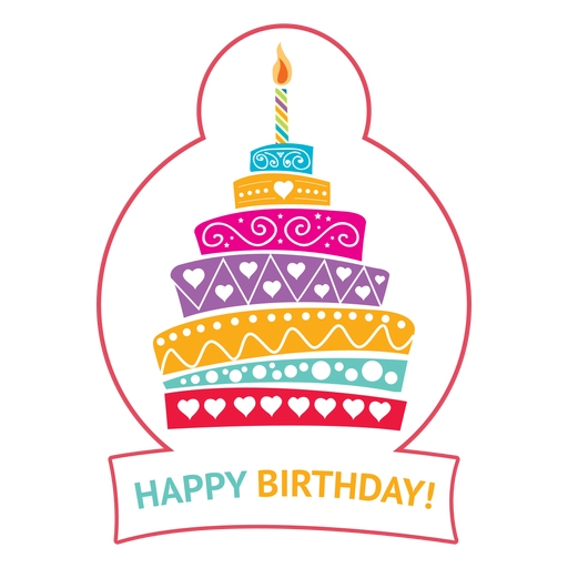 Happy birthday cake candle fire star illustration Transparent PNG