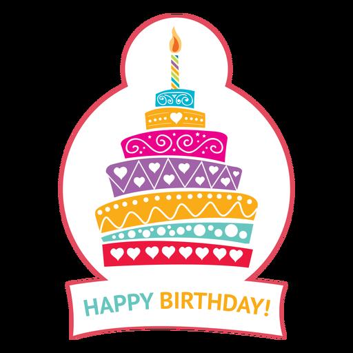 Ilustración de estrella de fuego de vela de pastel de feliz cumpleaños