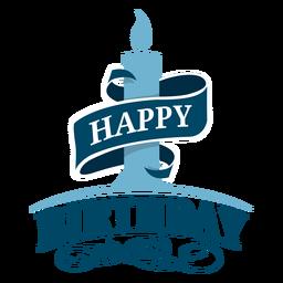 Ilustração de fita de feliz aniversário de vela