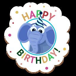 Alles- Gute zum Geburtstagfuchskappen-Ausweis-Aufkleberillustration