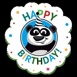 Ejemplo de la etiqueta engomada de la insignia del casquillo del caballo del feliz cumpleaños