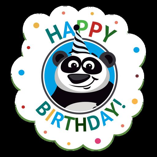 Ejemplo de la etiqueta engomada de la insignia del casquillo del caballo del feliz cumpleaños Transparent PNG
