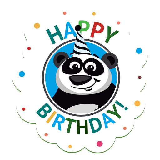 Happy birthday horse cap badge sticker illustration Transparent PNG