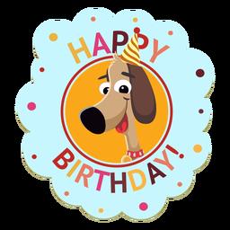 Feliz aniversário panda cap distintivo adesivo ilustração