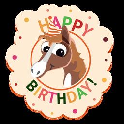 Ejemplo de la etiqueta engomada de la insignia del casquillo del pingüino del feliz cumpleaños