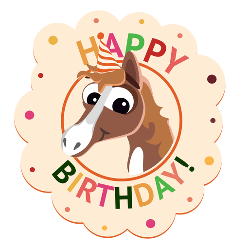 Happy birthday penguin cap badge sticker illustration Transparent PNG