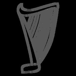 Doodle de cordas de harpa