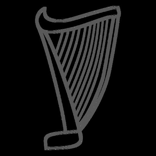 Harp string doodle Transparent PNG