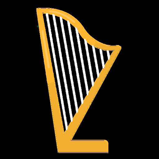 Harp string flat Transparent PNG