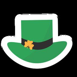Autocolante de trevo de chapéu
