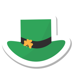 Hat clover sticker