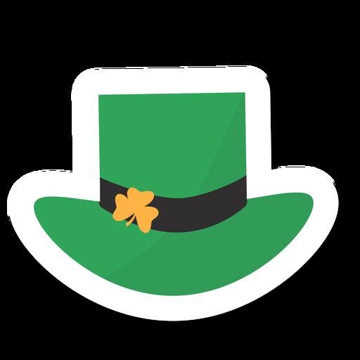Hat clover sticker Transparent PNG