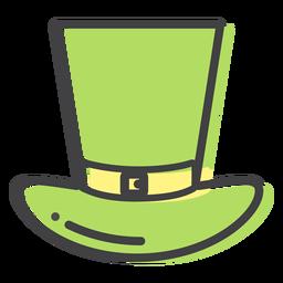 Trazo de correa de sombrero