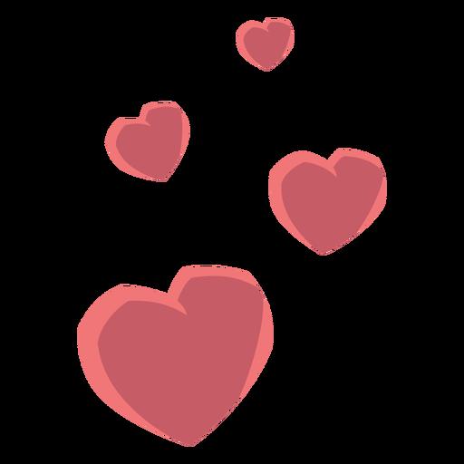 Corazón cuatro amor plano Transparent PNG