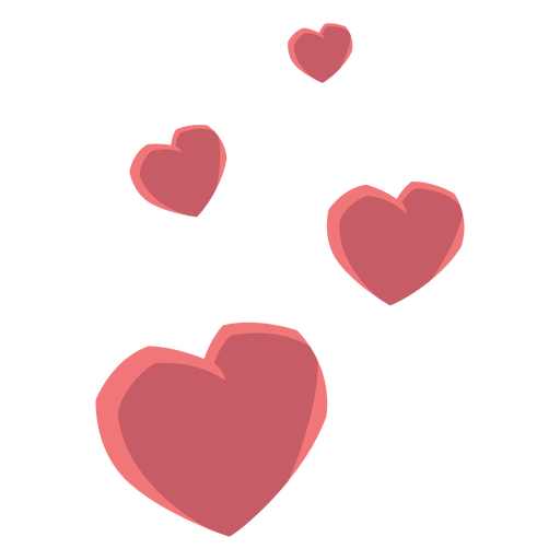 Heart four love flat