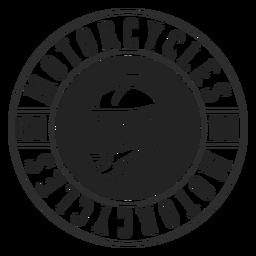 Casco de texto motociclo círculo insignia