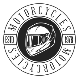 Insignia del círculo de la motocicleta del texto del casco
