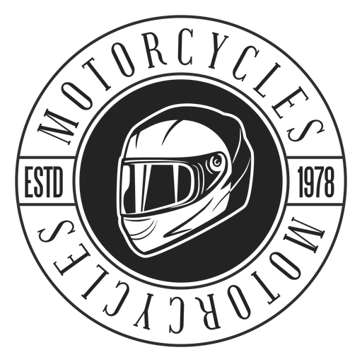 Helmet text motocycle circle badge