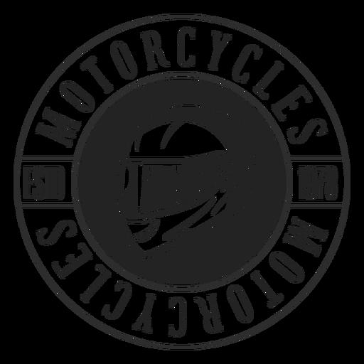 Insignia del c?rculo de la motocicleta del texto del casco