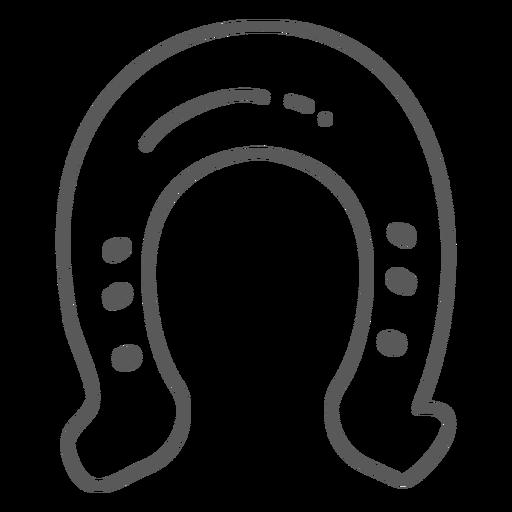 Doodle de sorte de ferradura Transparent PNG