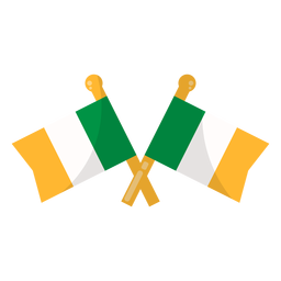 Bandera de irlanda plana