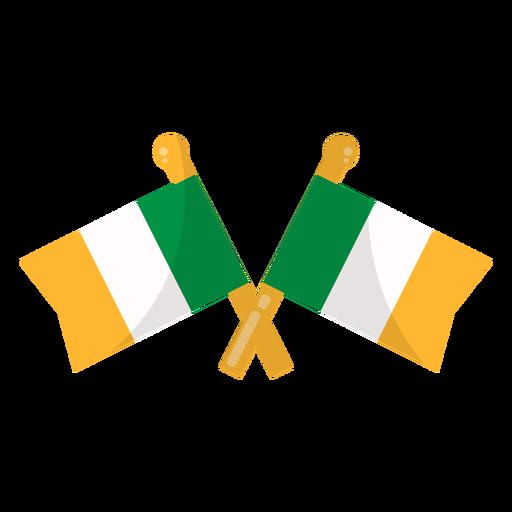 Bandeira da Irlanda plana Transparent PNG