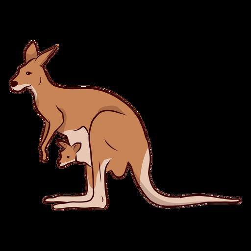 Ilustración de pierna de cola de oreja de canguro bebé canguro Transparent PNG